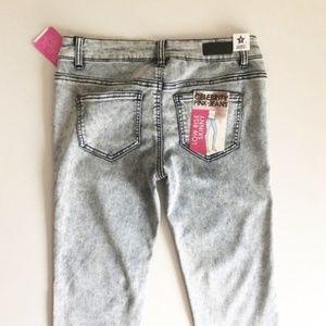 Celebrity Pink Jeans - Celebrity Pink Acid Wash Stretch Skinny Jean Sz 9